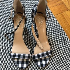 Gingham Heeled Sandals For Events